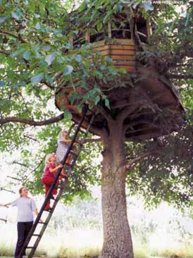a custom tree house from the Treehouse Company